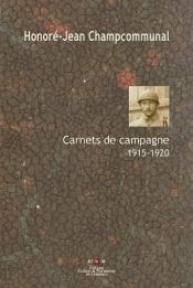 HJ Champcommunal carnets 1915-1920