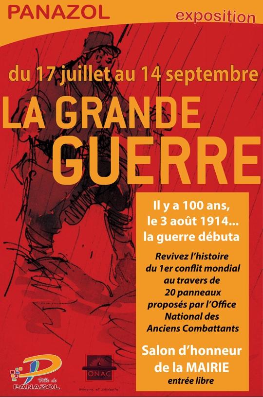 Panazol affiche de l'exposition la Grende Guerre