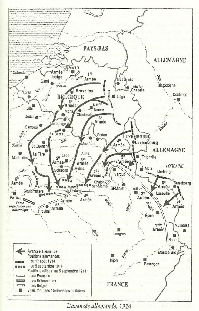 1914 L'avancée allemande