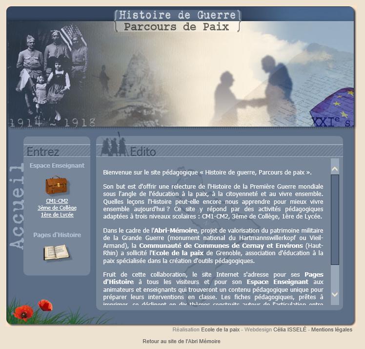 Abri-Mémoire site pédagogique
