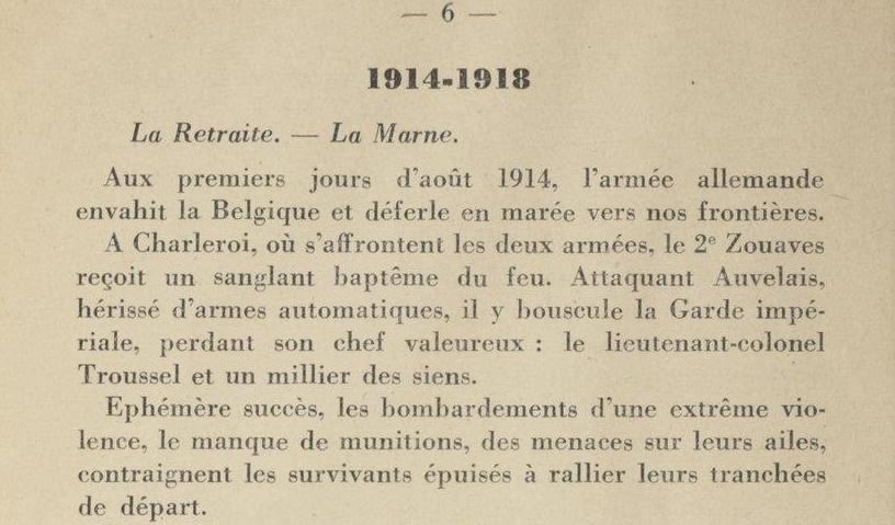 Historique du 2e RMZ P.6