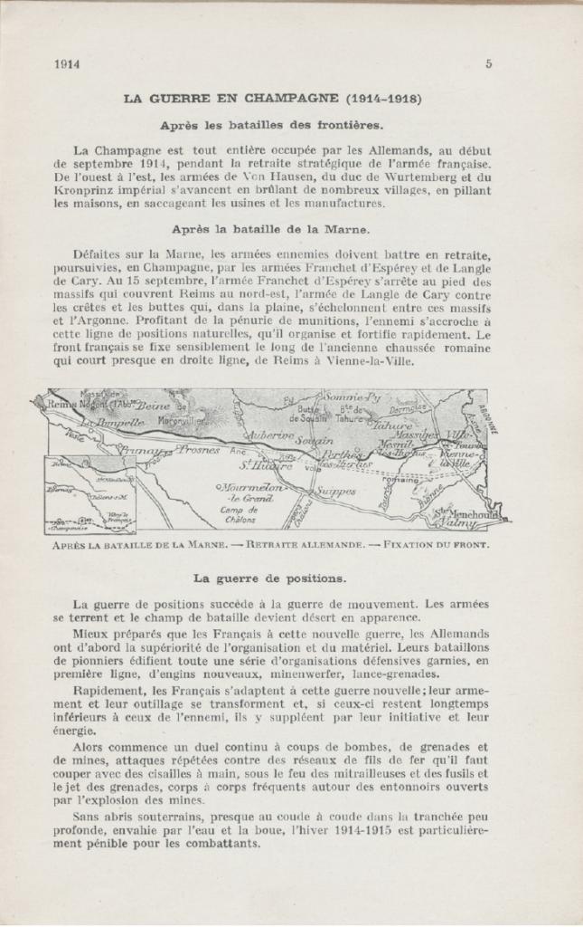 Les Batailles de Champagne septembre 1914. Michelin 1921