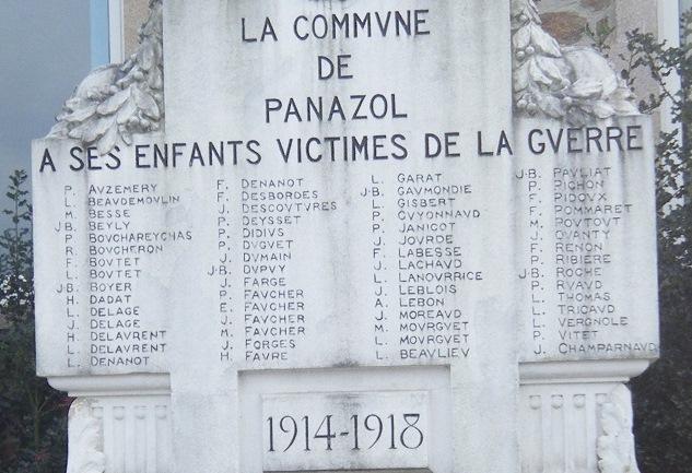 3. Les victimes de la Grande Guerre de Panazol