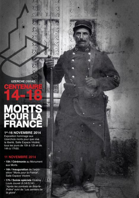 Morts pour la France Exposition Uzerche 2014