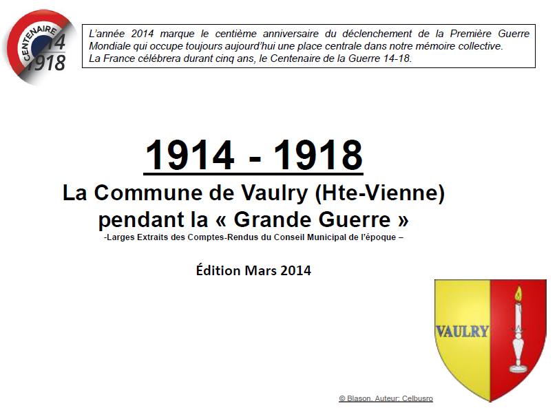 Vaulry première page
