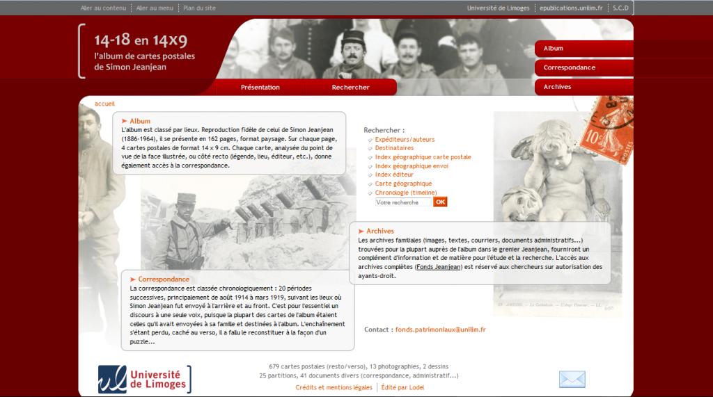 Site Simon Jeanjean SCD Limoges