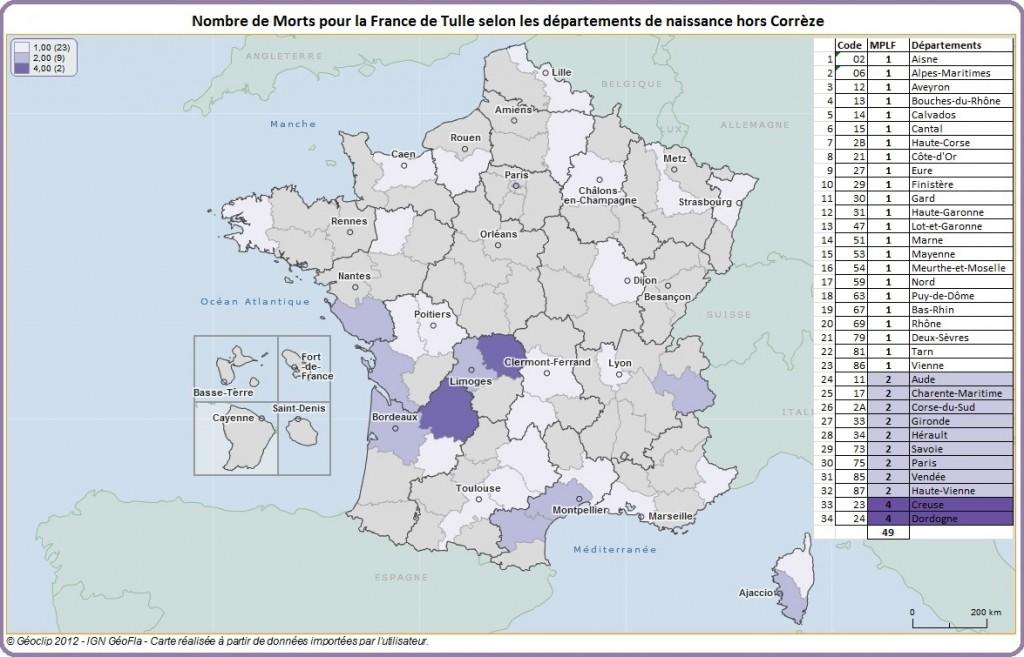 Géoclip carte des dép de naissance hors Corrèze