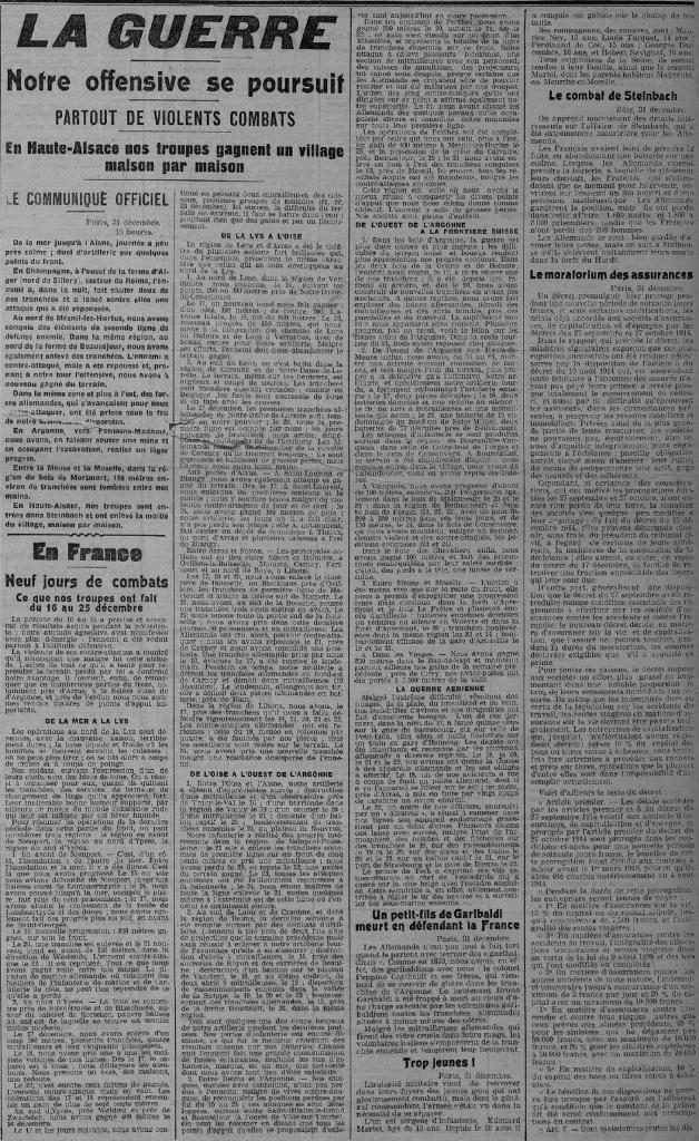 PDC 01 01 1915 La Guerre