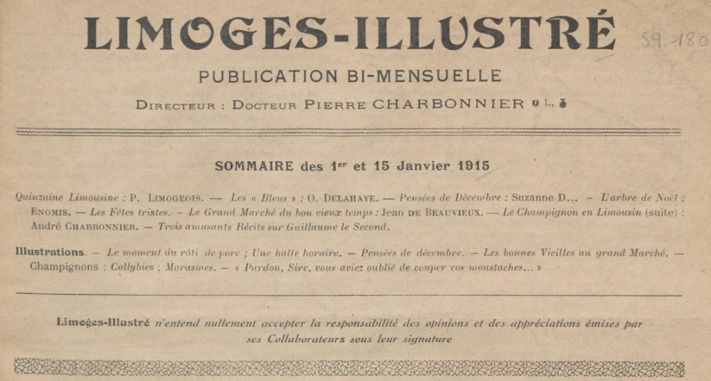 Limoges illlustré 1er-15 janvier 1915