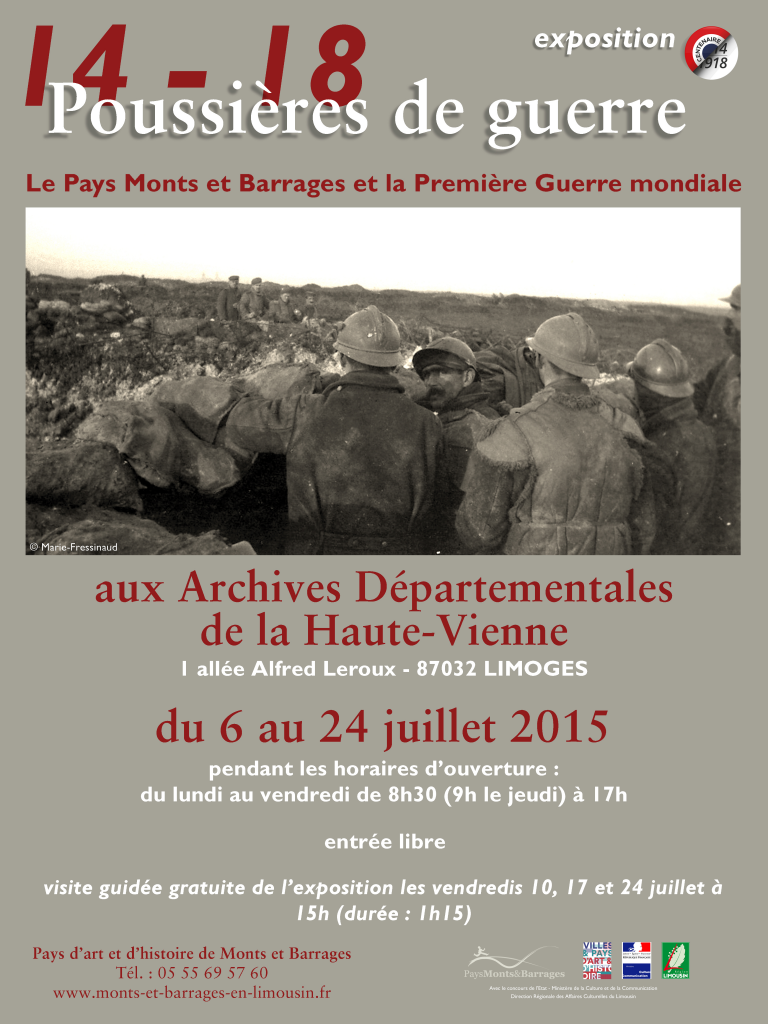 Affiche expo AD87 2015