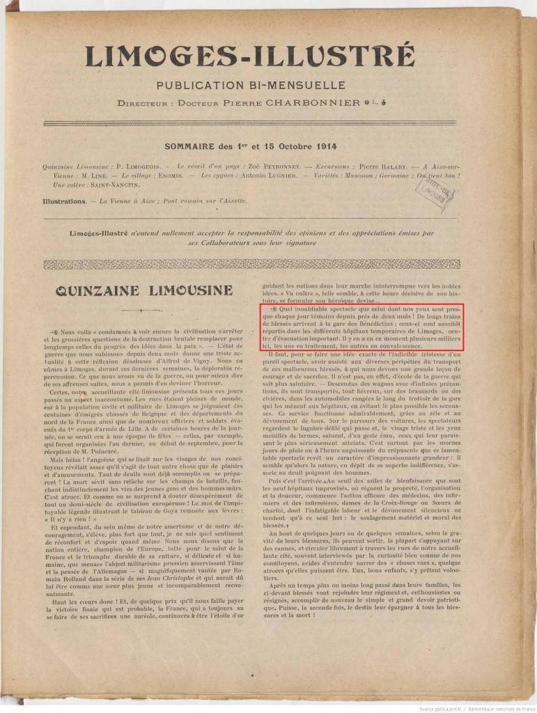 Limoges illustré 01 10 1914 P1
