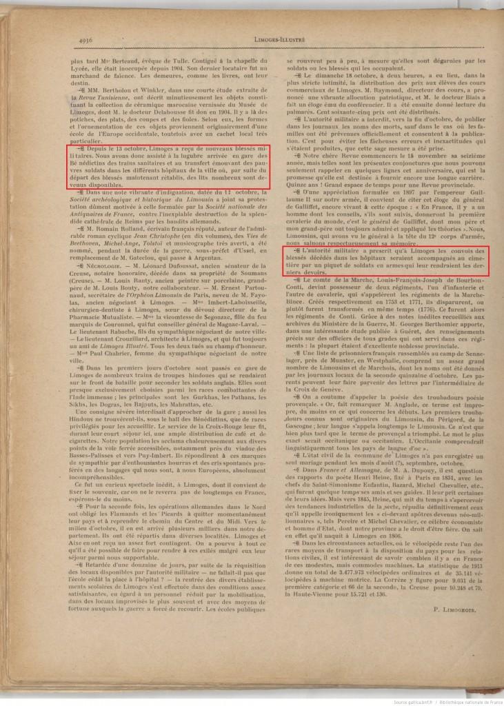 Limoges illustré 01 11 1914 P2