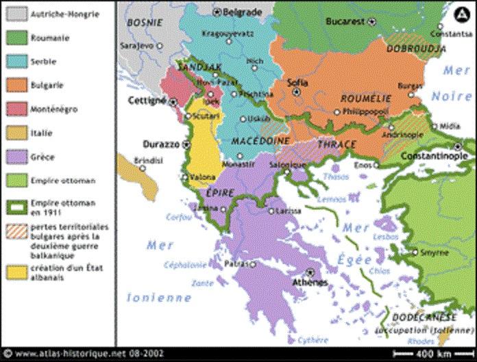 Les Balkans en 1914