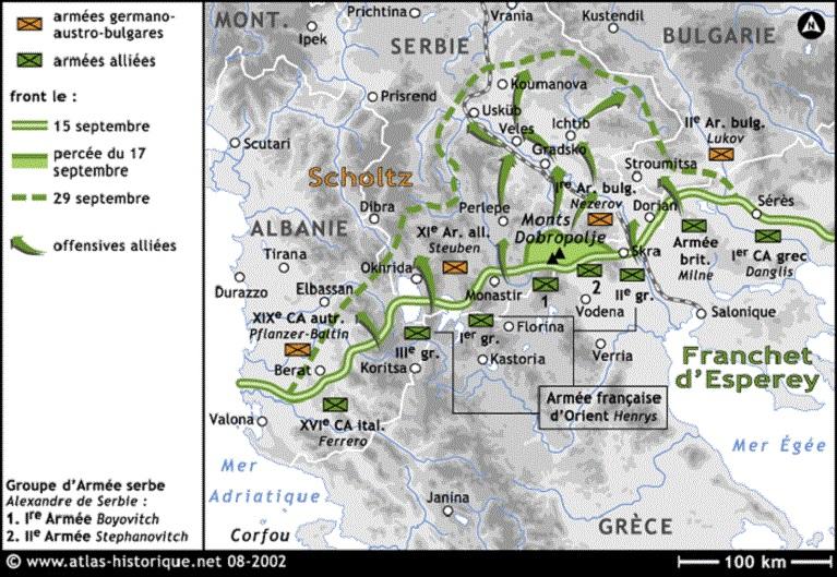 Percée du front d'Orient du 15 au 29 septembre 1918