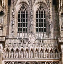 Façade de la cathédrale Notre-Dame de Strasbourg construite entre 1176 et 1439