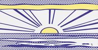 Roy Lichtenstein, Sunrise, 1967. Los Angeles, Los Angeles County Museum of Art. 