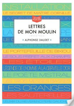 """Couverture du livre """"Lettres de mon moulin - Sélection"""" d'Alphonse DAUDET"""
