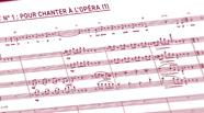 Image de la partition du chant n°1 de l'opéra.