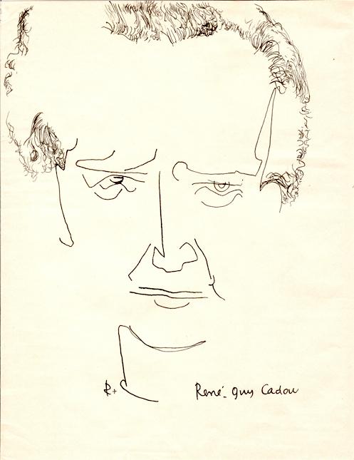Portrait de René Guy Cadou, (dessin) par Robert Morel. Source : Médiathèque Louis-Joseph de Château-Arnoux.