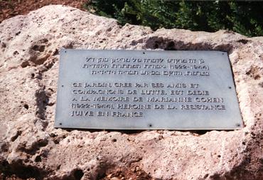 Plaque commémorative; Source : Shoah / CDJC