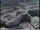 vue aérienne - construction de la Villeneuve de Grenoble