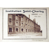 Institution Saint-Charles, Chauny (Aisne) 1929-1930.