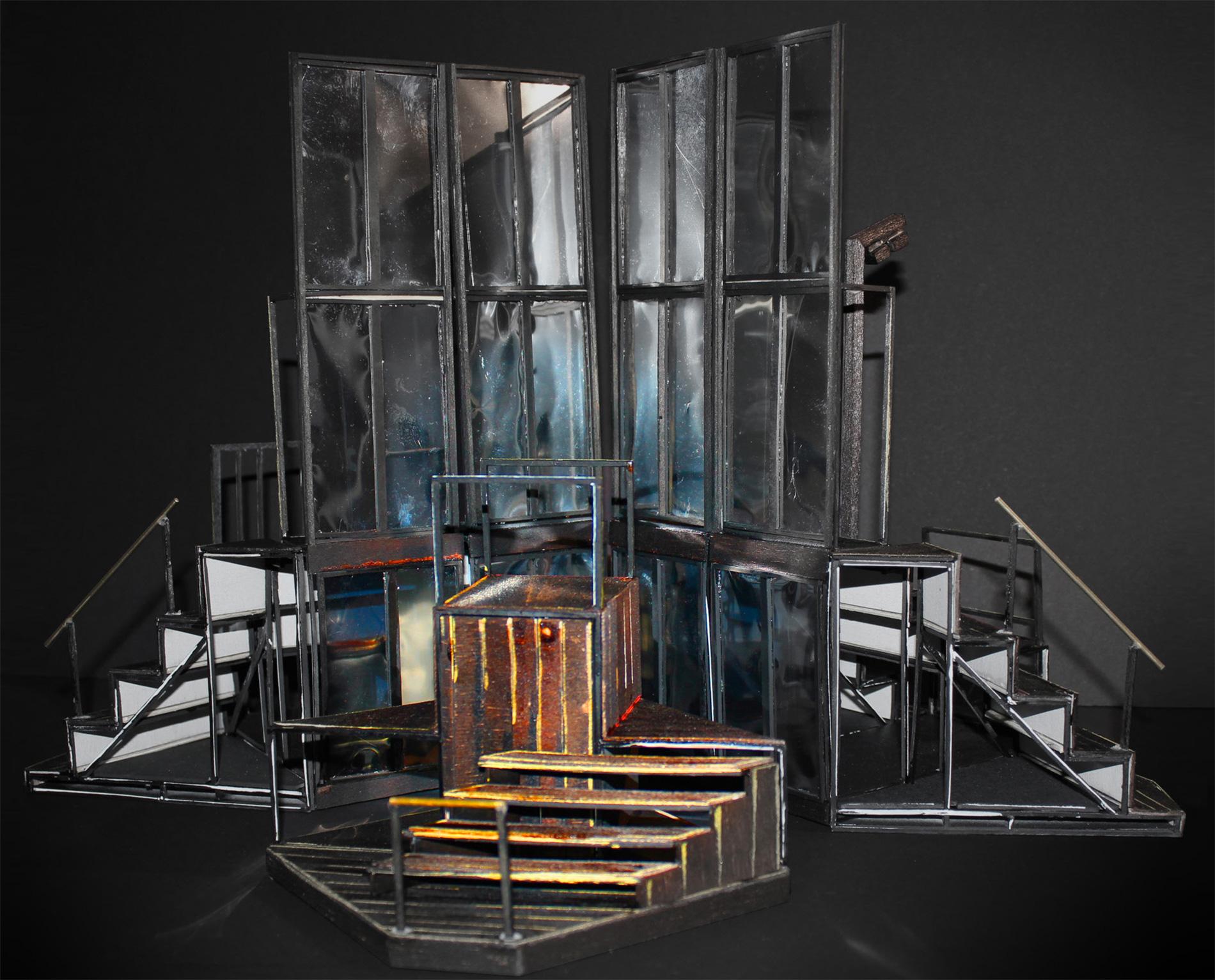 Tailleferre r seau canop for Decor de theatre